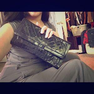 Genuine 100% eel skin leather clutch VINTAGE